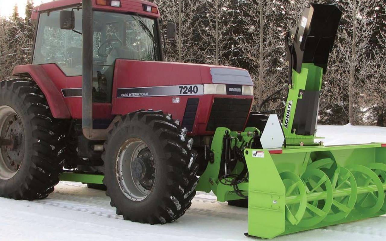 Schulte Front Mount Snowblower Tractor Mount Snowblower
