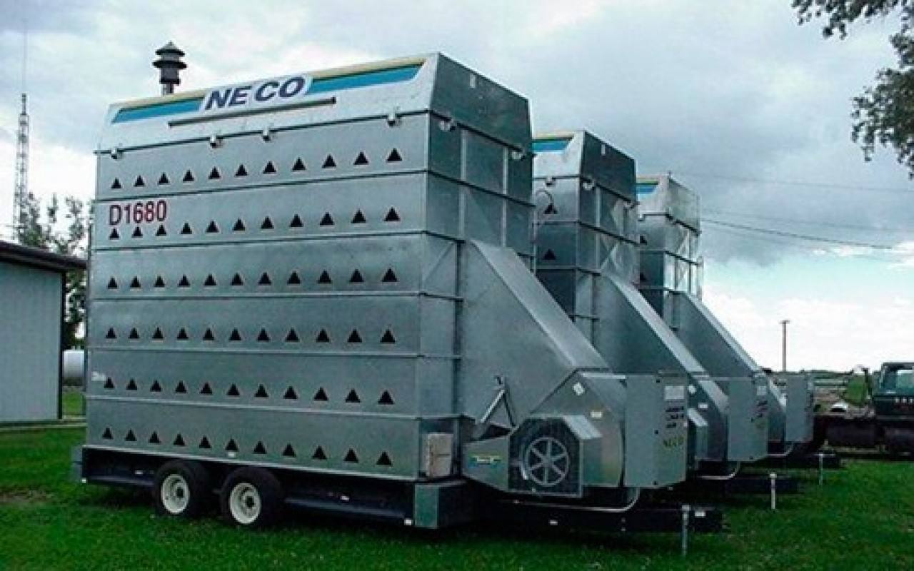 Used Grain Blowers : Neco grain dyer handling aeration flaman