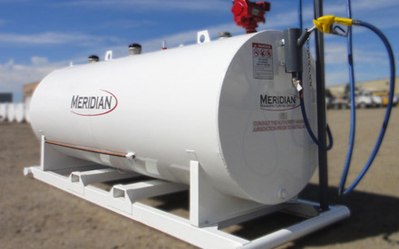 Farmers Gas Tank : Split double wall fuel tank farm storage flaman
