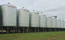 Galvanized Hopper Bins