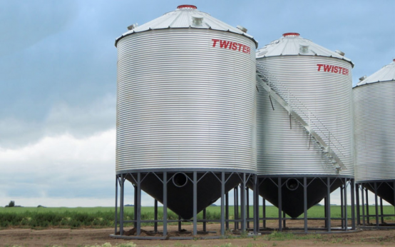 Hopper Bottom Bins Twister Grain Storage Flaman