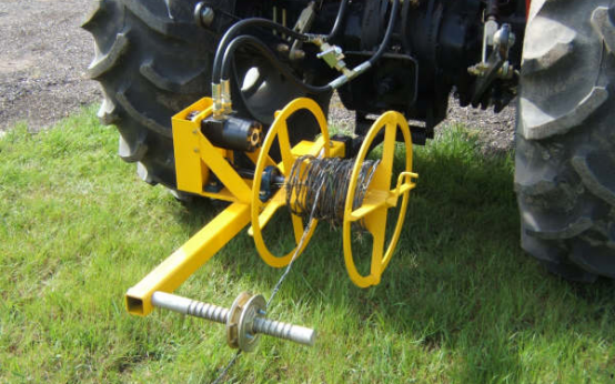 Level Wind Wire Spooler Fence Wire Rollers Barb Wire